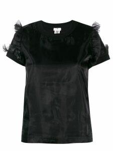 Comme Des Garçons Noir Kei Ninomiya ruffled shoulder top - Black