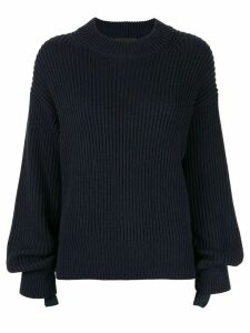 Helmut Lang ribbed design jumper - Blue