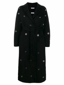 P.A.R.O.S.H. eyelet embellished robe coat - Black