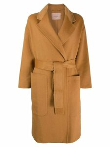 Twin-Set tie waist coat - Neutrals