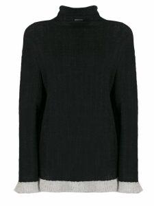 By Malene Birger contrasting hem jumper - Black