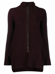 Pierantoniogaspari safety pin embellished sweater - Purple