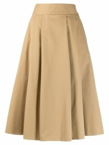 Aspesi pleated midi skirt - Neutrals