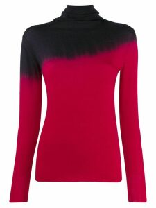 Pierantoniogaspari tie-dye turtleneck top - Red