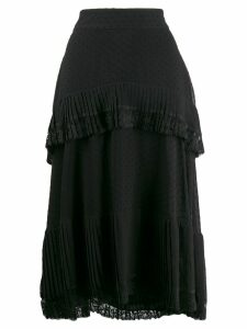 Zimmermann lace trim skirt - Black