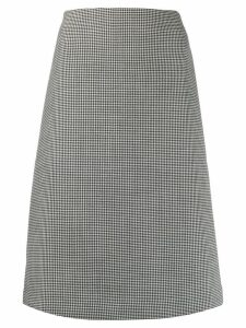 Pierantoniogaspari houndstooth panel skirt - Black