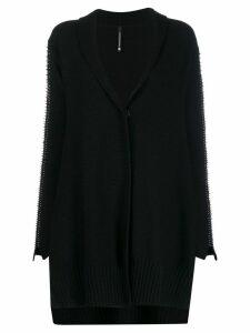Pierantoniogaspari safety pin embellished cardigan - Black
