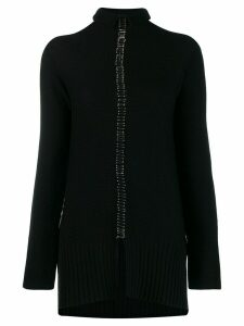 Pierantoniogaspari Safety pin knitted cardigan - Black