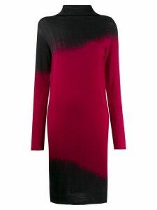 Pierantoniogaspari tie-dye turtleneck dress - Black