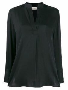 By Malene Birger v-neck flared blouse - Black