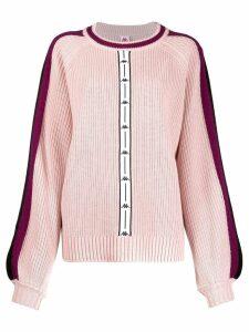 Kappa logo stripe sweater - Pink