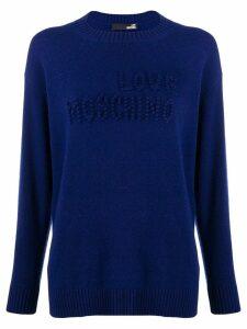 Love Moschino stitched logo jumper - Blue