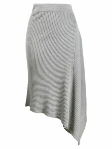 Pinko asymmetric knit skirt - Grey