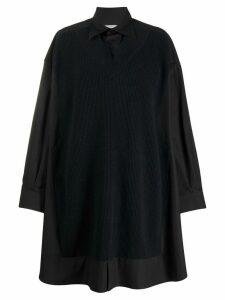 Maison Margiela oversized jumper shirt dress - Black