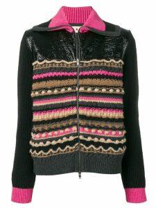 Marni striped knit jacket - Black