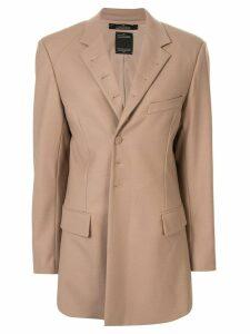 Rokh straight-fit tailored blazer - Brown