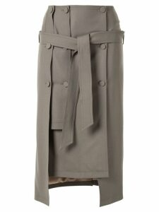 Rokh layered midi skirt - Brown