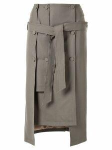 Rokh layered midi skirt - Brown