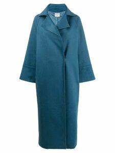 Forte Forte longline cocoon coat - Blue