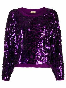 Liu Jo relaxed-fit sequined jumper - Purple
