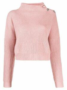 Liu Jo embellished cropped jumper - Pink