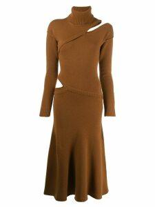 Each X Other asymmetric sweater dress - Brown