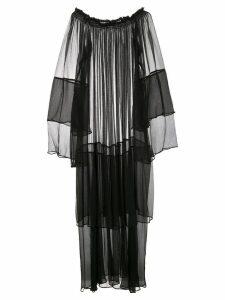 Voz Cascade dress - Black