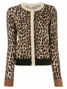 Liu Jo slim-fit leopard cardigan - Neutrals