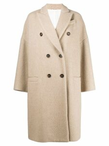 Brunello Cucinelli cocoon coat - NEUTRALS