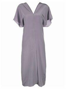 Voz short-sleeve midi dress - Purple