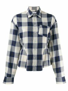 Each X Other fitted flannel shirt - Blue