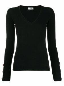 LIU JO embellished V-neck pullover - Black