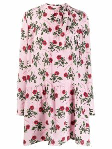 Valentino floral print short dress - PINK