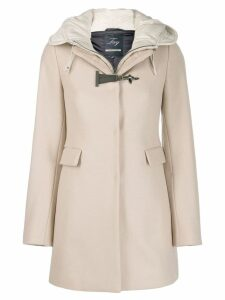 Fay single breasted duffle coat - NEUTRALS