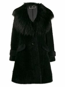 Elisabetta Franchi oversized coat - Black