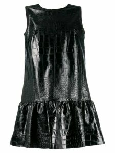 Brognano low back ruffled dress - Black