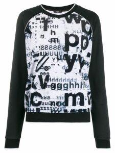 LIU JO all-over print sweatshirt - Black