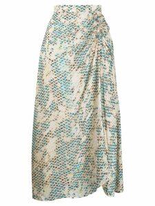 Lala Berlin Kufiya Snake skirt - Neutrals