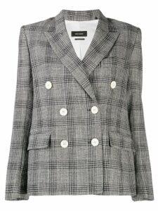 Isabel Marant Prince of Wales check jacket - Black