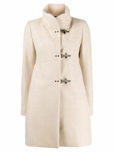Fay funnel neck midi coat - Neutrals