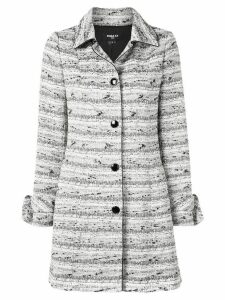Paule Ka single-breasted fitted coat - White