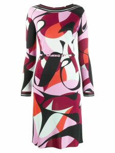 Emilio Pucci mid-length printed dress - Black