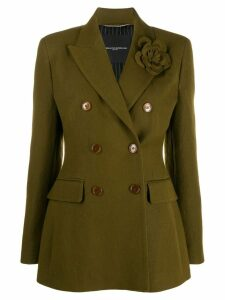 Ermanno Scervino double-breasted pin detail blazer - Green