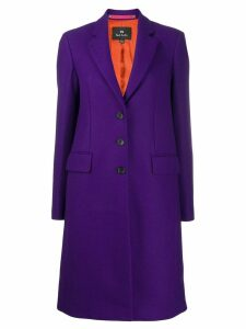 PS Paul Smith single breasted coat - PURPLE