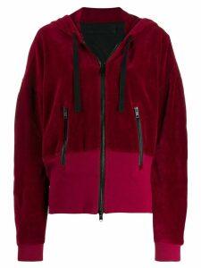 Haider Ackermann Freeman zip-up hoodie - Red