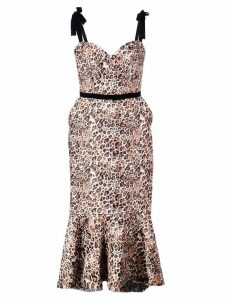 Johanna Ortiz love between species midi dress - Brown