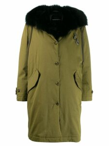 Ermanno Scervino trimmed mid-length coat - Green