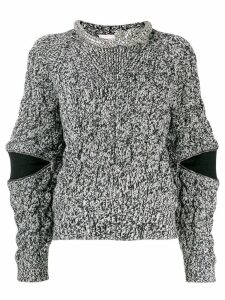 Alexander McQueen zipped sleeve sweater - Black