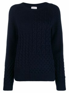 Woolrich cable knit jumper - Blue