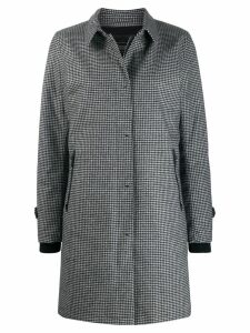 Herno check single-breasted coat - Grey